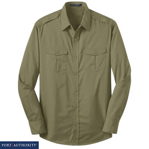 Port Authority Stain Resistant Roll Sleeve Twill Shirt  S649