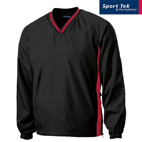 Sport-Tek Tipped V-Neck Raglan Wind Shirt JST62
