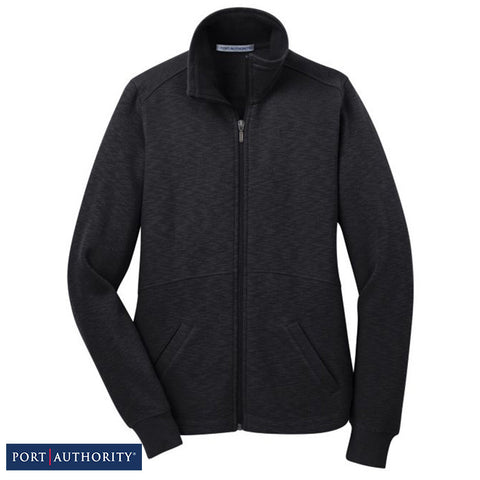 Port Authority Ladies Slub Fleece Full-Zip Jacket  L293
