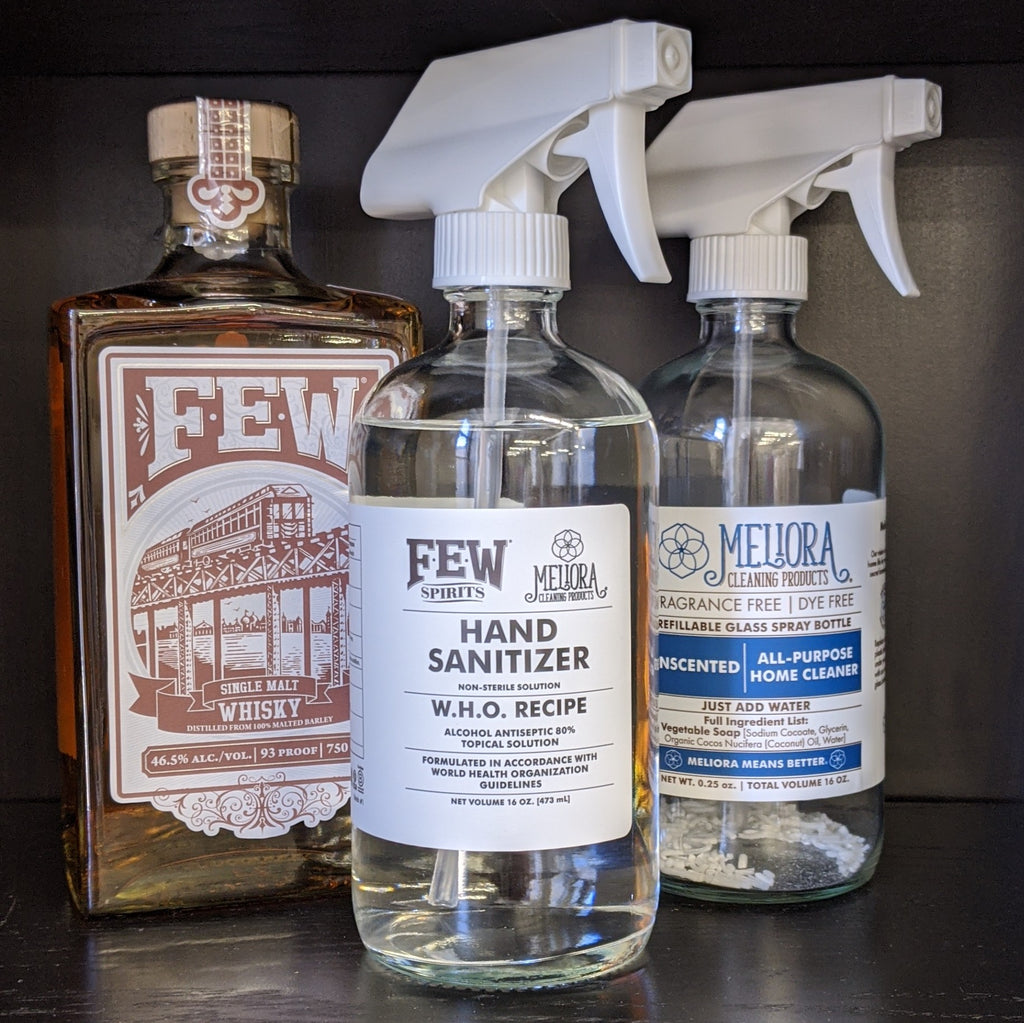 Meliora Cleaning Products & FEW Spirits Partner to Create FDA-Compliant Hand Sanitizer for Frontline Workers