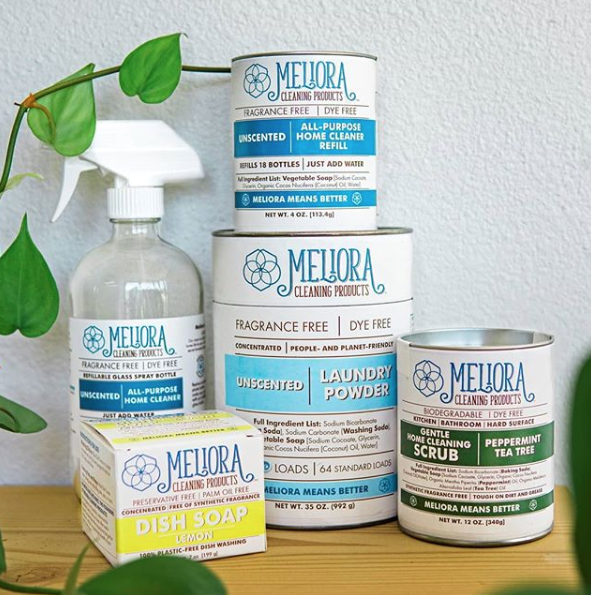 What surfaces can I use my Meliora Cleaning Products on?