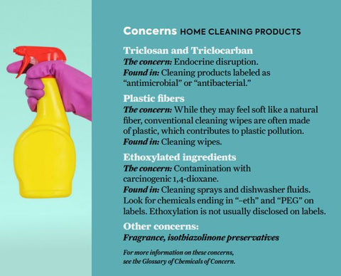 Concerns for home cleaning products