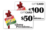 GhanaProvisions.com Online Gift Card
