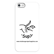 iPhone 5/5s phone cases - 'Sup?' Dogs - Miss Booger's Pet Sitting & Supplies