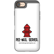 iPhone 8 phone cases - 'Pee-mail server' Hydrant - Miss Booger's Pet Sitting & Supplies