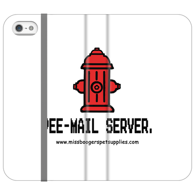 iPhone SE Phone Case - 'Pee-mail server' Hydrant - Miss Booger's Pet Sitting & Supplies