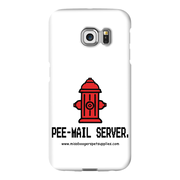 Samsung Galaxy s6-Edge Phone Cases - 'Pee-mail server' Hydrant - Miss Booger's Pet Sitting & Supplies