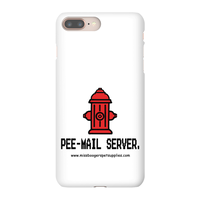 iPhone 8 Plus phone cases - 'Pee-mail server' Hydrant - Miss Booger's Pet Sitting & Supplies