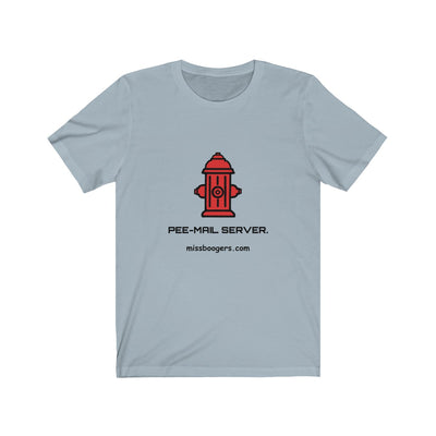 Unisex Jersey T shirt – 'Pee-mail server' Hydrant