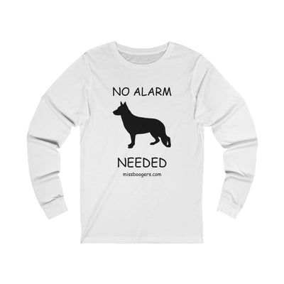 Unisex Long Sleeve T-Shirt - German Shepherd Security - Miss Booger's Pet Sitting & Supplies