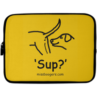 10 inch Laptop Sleeve - 'Sup?' Dogs - Miss Booger's Pet Sitting & Supplies