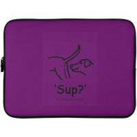 15 Inch Laptop Sleeve - 'Sup?' Dogs - Miss Booger's Pet Sitting & Supplies