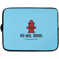 13 inch Laptop Case - 'Pee-mail-server' - Miss Booger's Pet Sitting & Supplies
