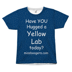 T Shirt - Hugga Yellow Lab – Dog Hair Shirt - Miss Booger's Pet Sitting & Supplies