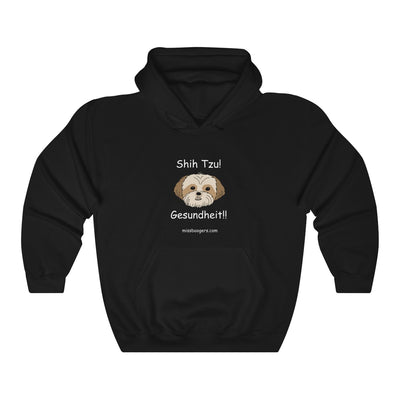Hoodie – Shih Tzu – Gesundheit – White Text - Miss Booger's Pet Sitting & Supplies