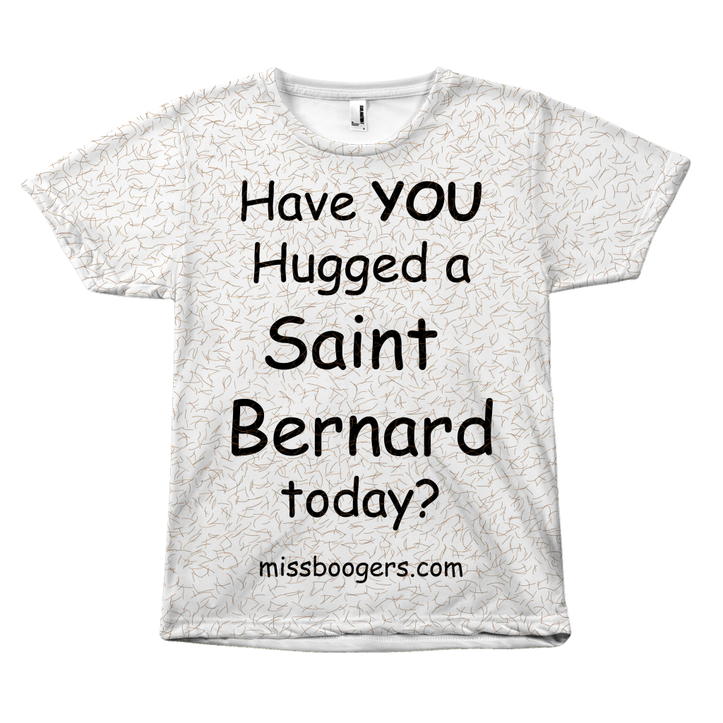 T Shirt - Hugga Saint Bernard – Dog Hair Shirt - Miss Booger's Pet Sitting & Supplies