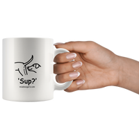 11 oz. Coffee Cup - 'Sup?' Dogs - Miss Booger's Pet Sitting & Supplies