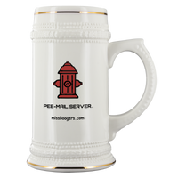 Beverage Stein – Pee-Mail-Server Hydrant – 22 oz - Miss Booger's Pet Sitting & Supplies