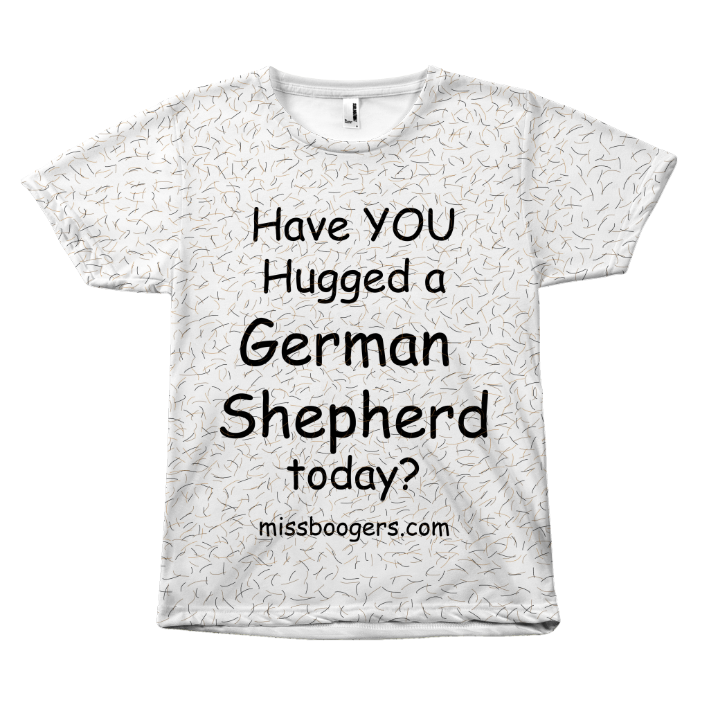 T Shirt - Hugga German Shepherd – Dog Hair Shirt - Miss Booger's Pet Sitting & Supplies
