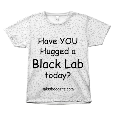 T Shirt - Hugga Black Lab – Dog Hair Shirt - Miss Booger's Pet Sitting & Supplies