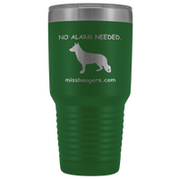 30oz Stainless Steel Travel Tumbler Mug – German Shepherd Security - Miss Booger's Pet Sitting & Supplies