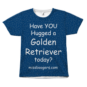 T Shirt - Hugga Golden Retriever - Dog Hair Shirt - Miss Booger's Pet Sitting & Supplies