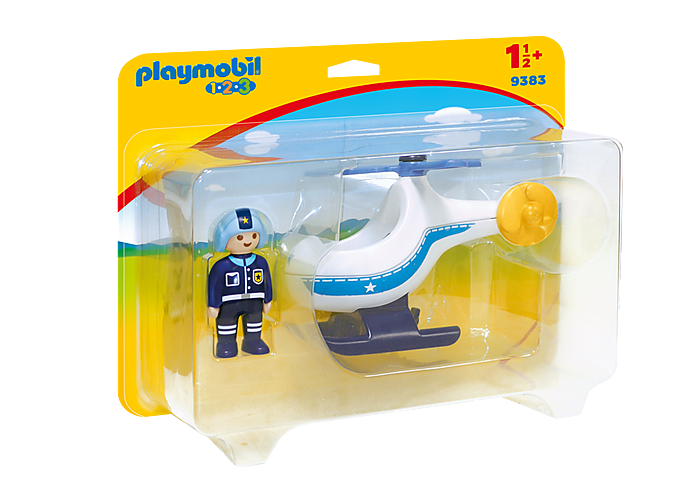 PLAYMOBIL 123 - Police Helicopter  - 9383