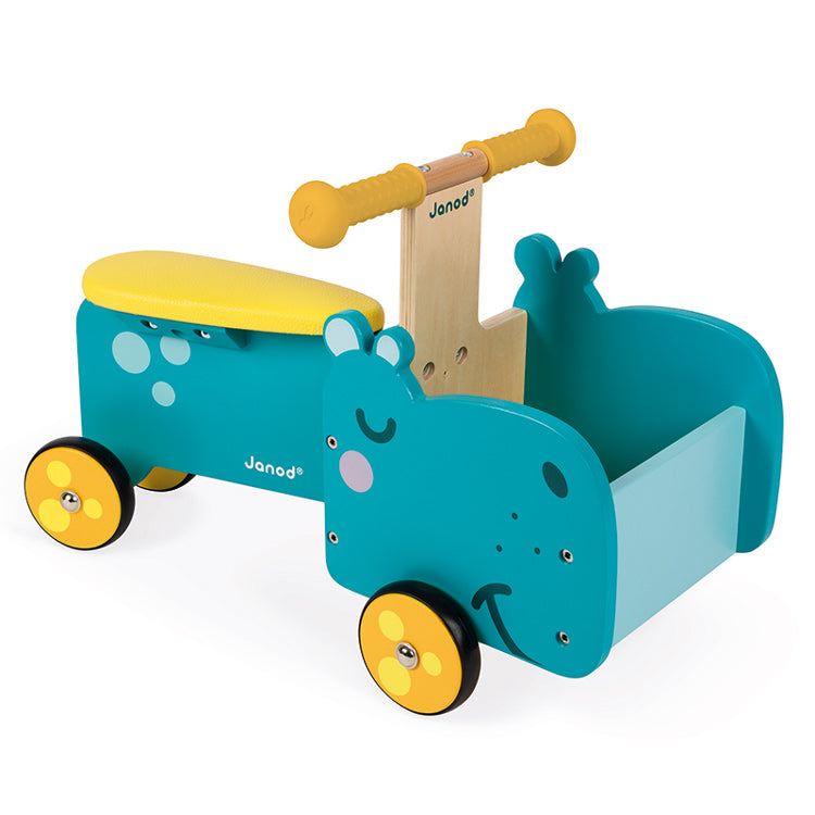 JANOD - Ride On - Hippo - Wooden