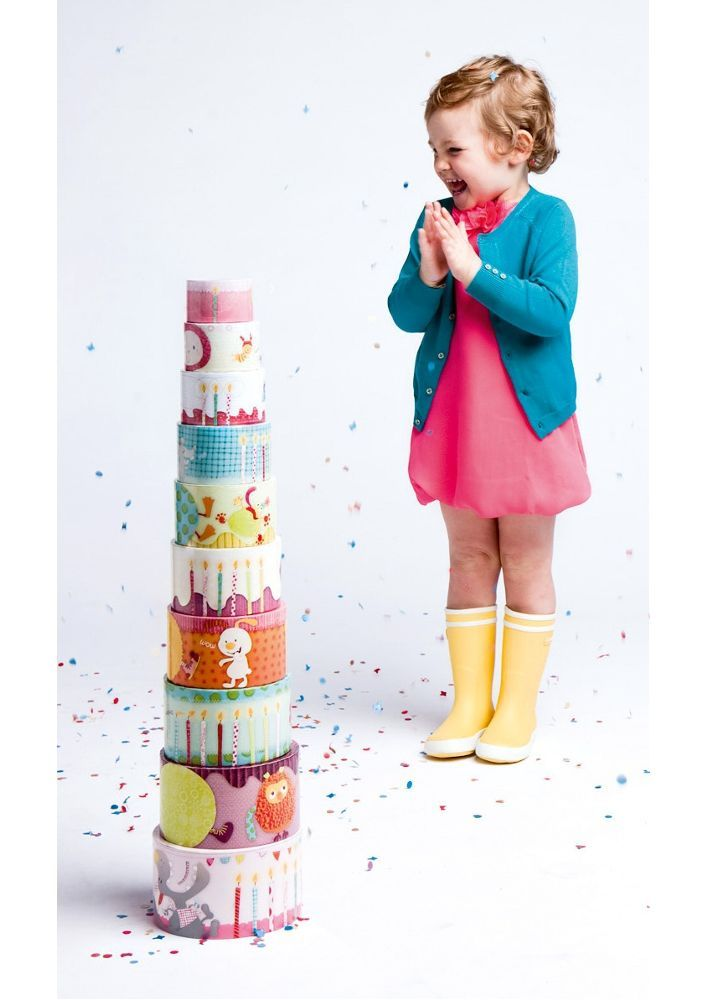Lilliputiens - Pyramid Cake - Stacking Blocks