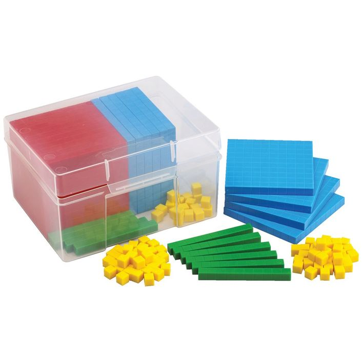 EDX Education -  Base Ten Set - Plastic in Container 10510C