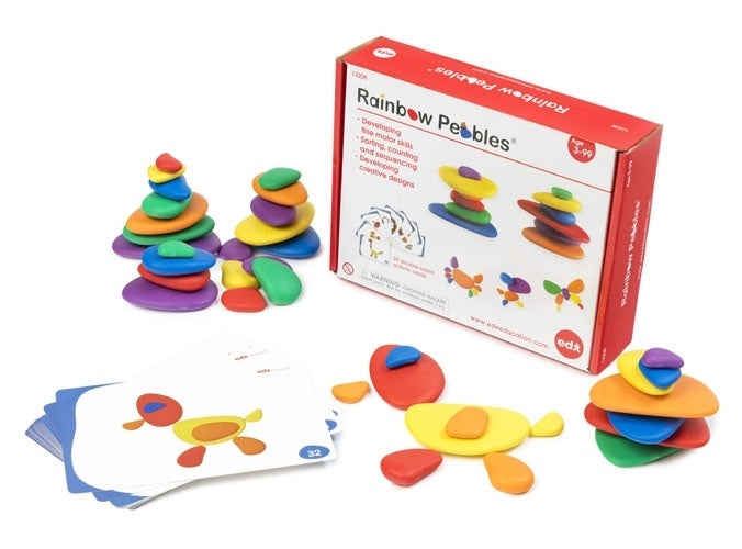 EDX Education - Rainbow Pebbles -  Activity Set 36 piece 13208