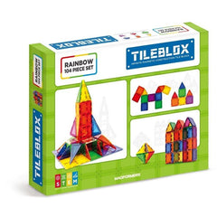 TILEBLOX Rainbow Magnetic Tiles - 104 Piece