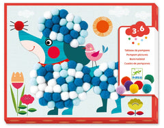DJECO Art Kits - Dogs to Stroke Pompom Collage