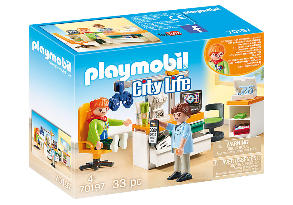 PLAYMOBIL - City Life Medical - Eye Doctor - 70197