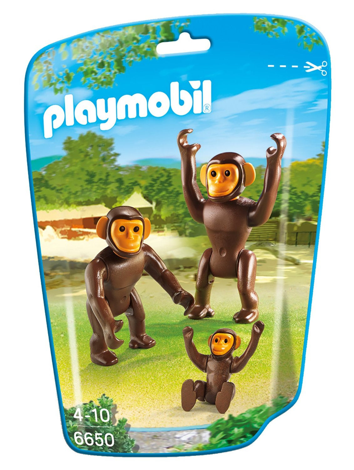PLAYMOBIL Zoo/Wildlife Chimpanzee Family 6650