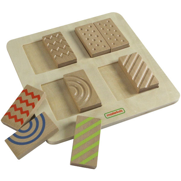 MASTERKIDZ 2-Sided Tactile 'n Visual Matching Blocks