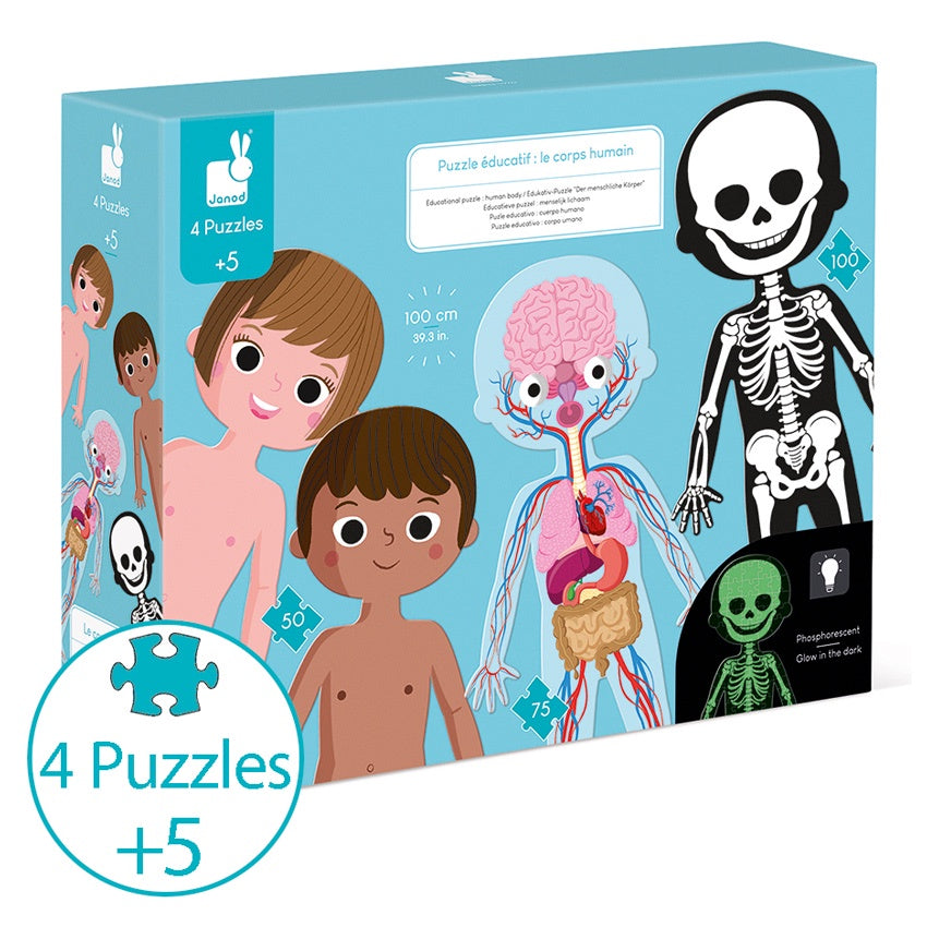 JANOD Human Body Puzzles - Set of 4