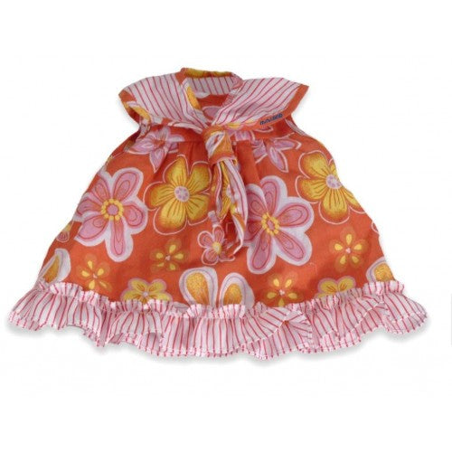 Miniland Pink and Orange Floral Dress, 40 cm