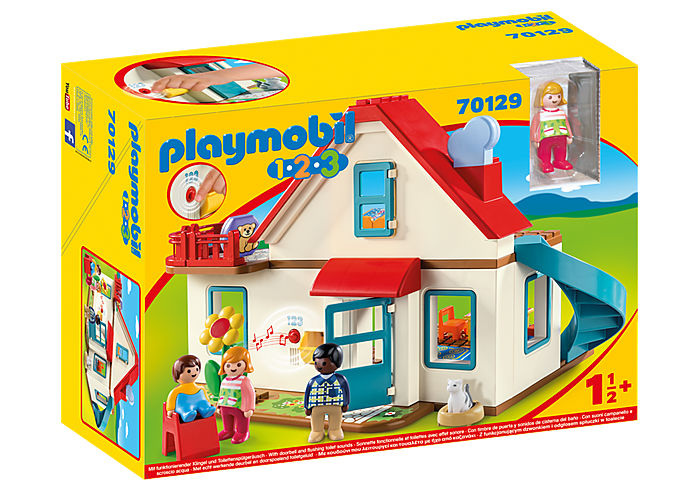 PLAYMOBIL 123 - Family Home Dollhouse - 70129