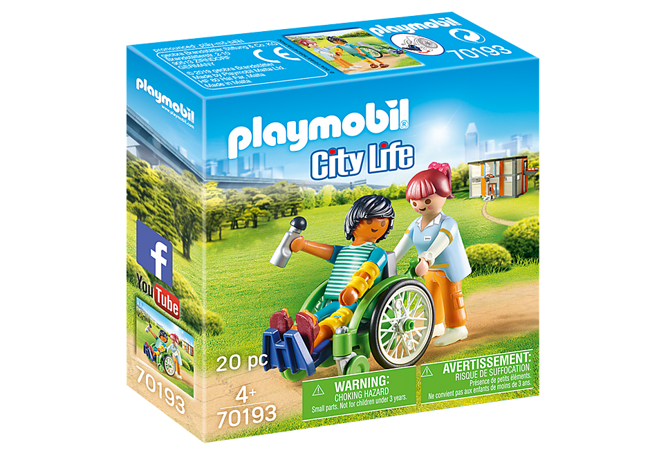 PLAYMOBIL City Life Medical -  Patient in Wheelchair - 70193