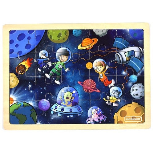MASTERKIDZ Wooden Puzzle - Space - 20 Piece