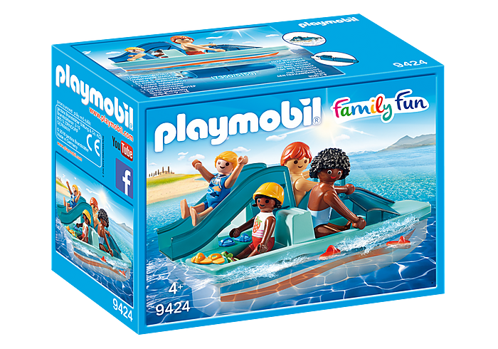 PLAYMOBIL Summer Fun - Paddle Boat with Slide - 9424