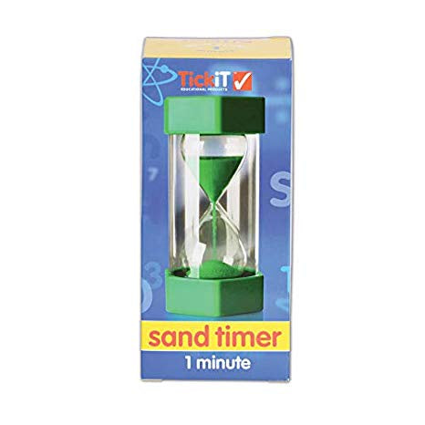 Learning Can Be Fun - Large Sand Timer - 1 Minute Green