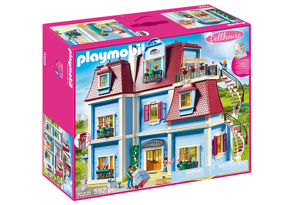 PLAYMOBIL Dollhouse - Large Blue - 70205
