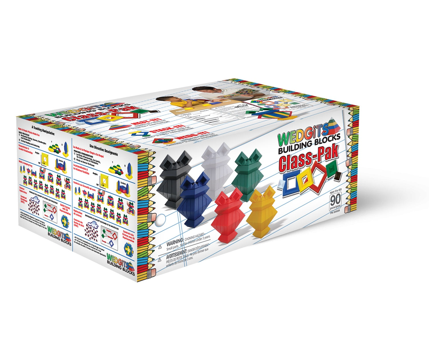 WEDGITS Buillding Set - Classroom Set - 90 Piece