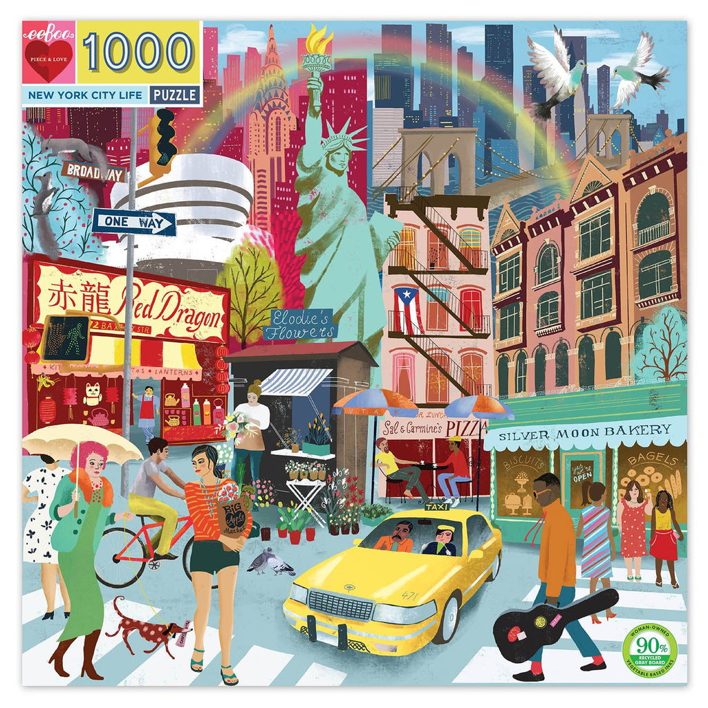 EEBOO - Puzzle - New York City- 1000 Piece