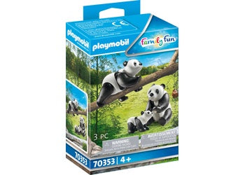 PLAYMOBIL Zoo/Wildlife - Pandas with Cub - 70353