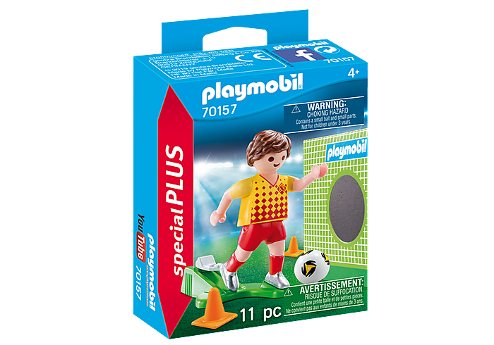 PLAYMOBIL Soccer Player with Goal - 70157
