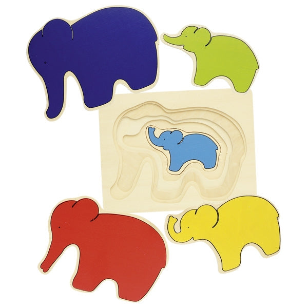 GOKI Layer Puzzle - Elephants