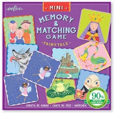 EEBOO Mini Memory Matching Game - Fairytales